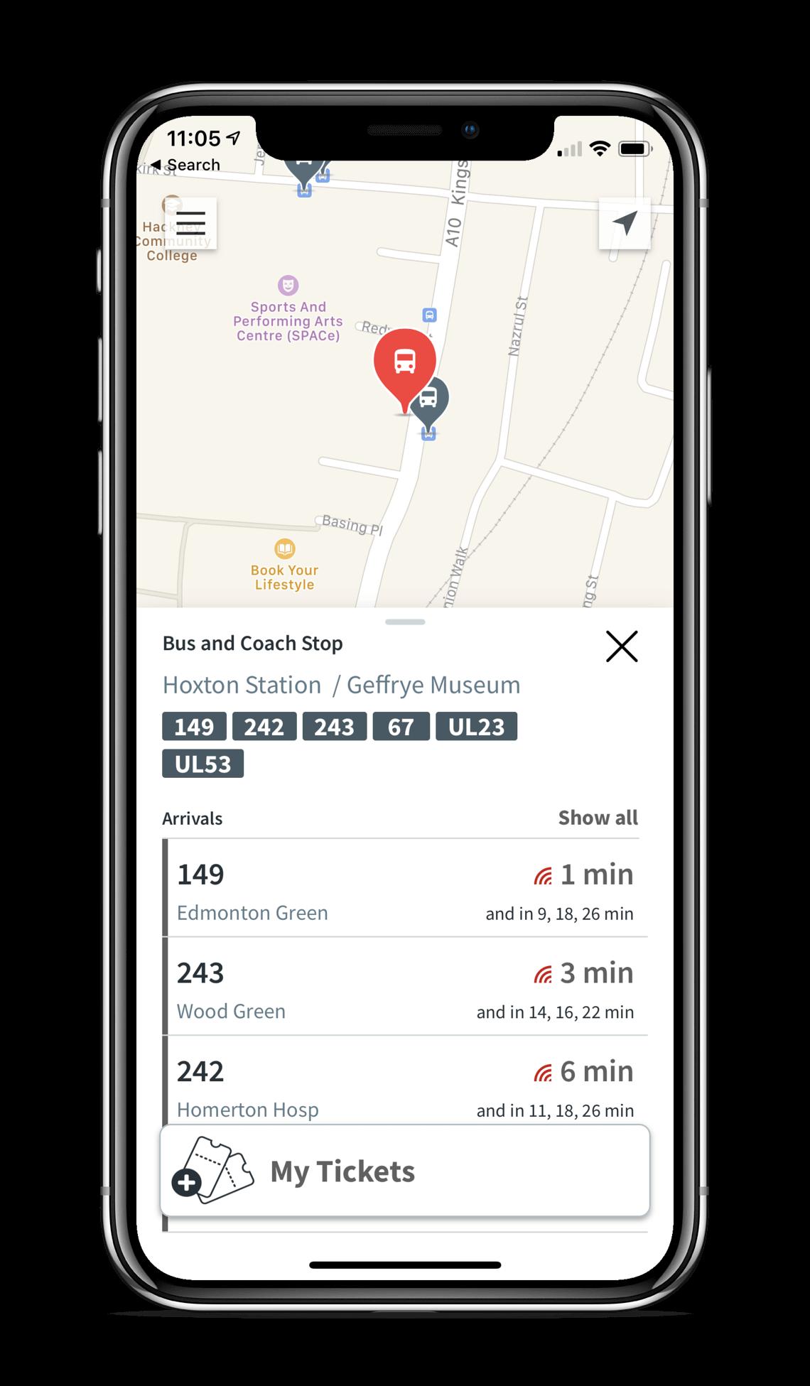 Ticketless app on iPhone
