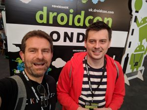 Matt and Richard at DroidCon